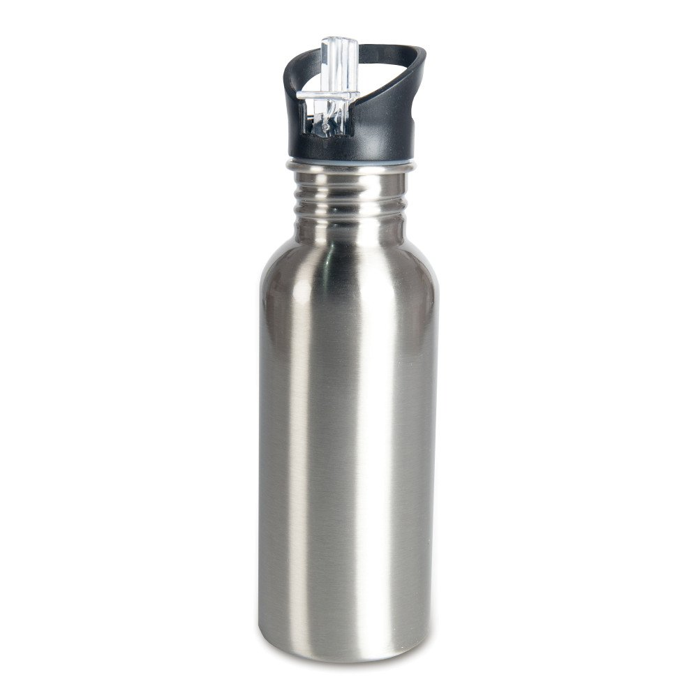 Aluminiowa butla 600 ml z ustnikiem srebrna
