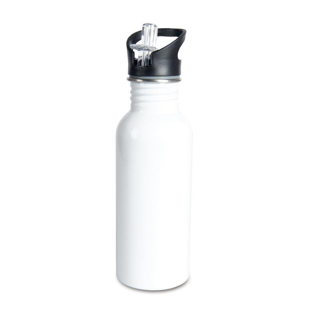 Aluminiowa butla 600 ml z ustnikiem biała