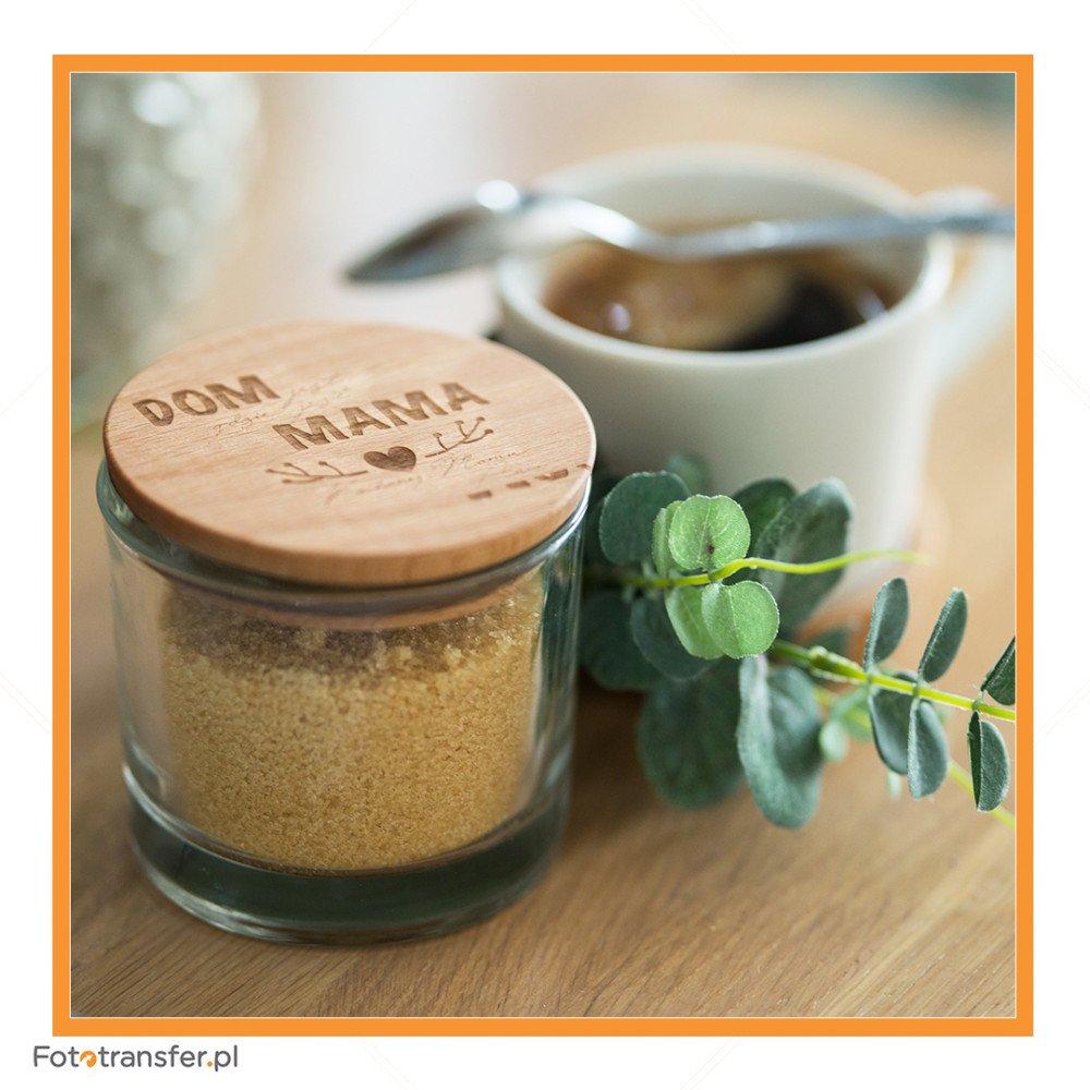 Słoiczek- szklanka 260 ml z drewnianą przykrywką