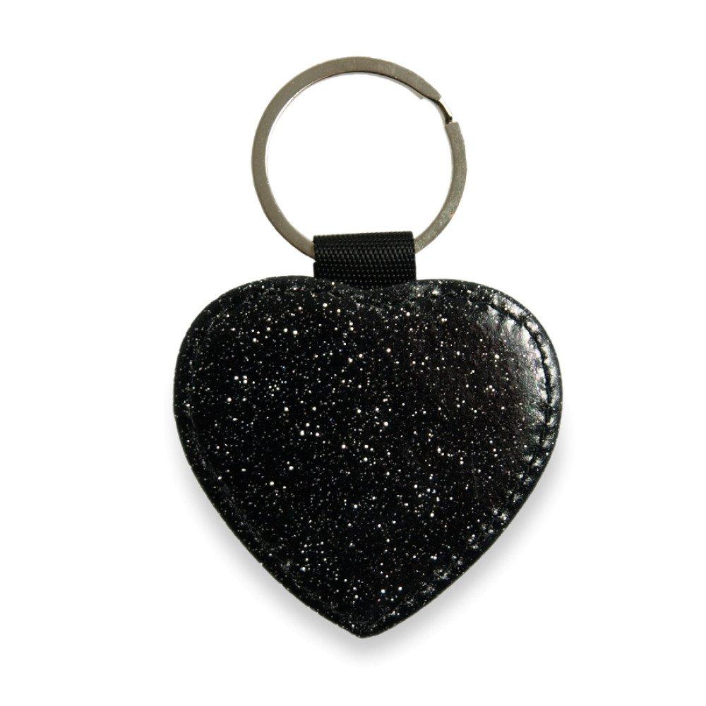 Brelok skóropodobny serce czarne