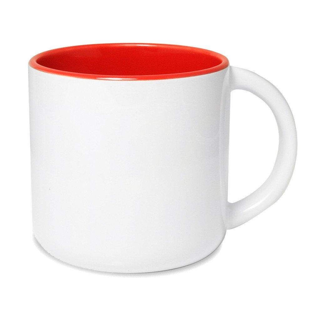 Kubek Olimp szeroki czerwony