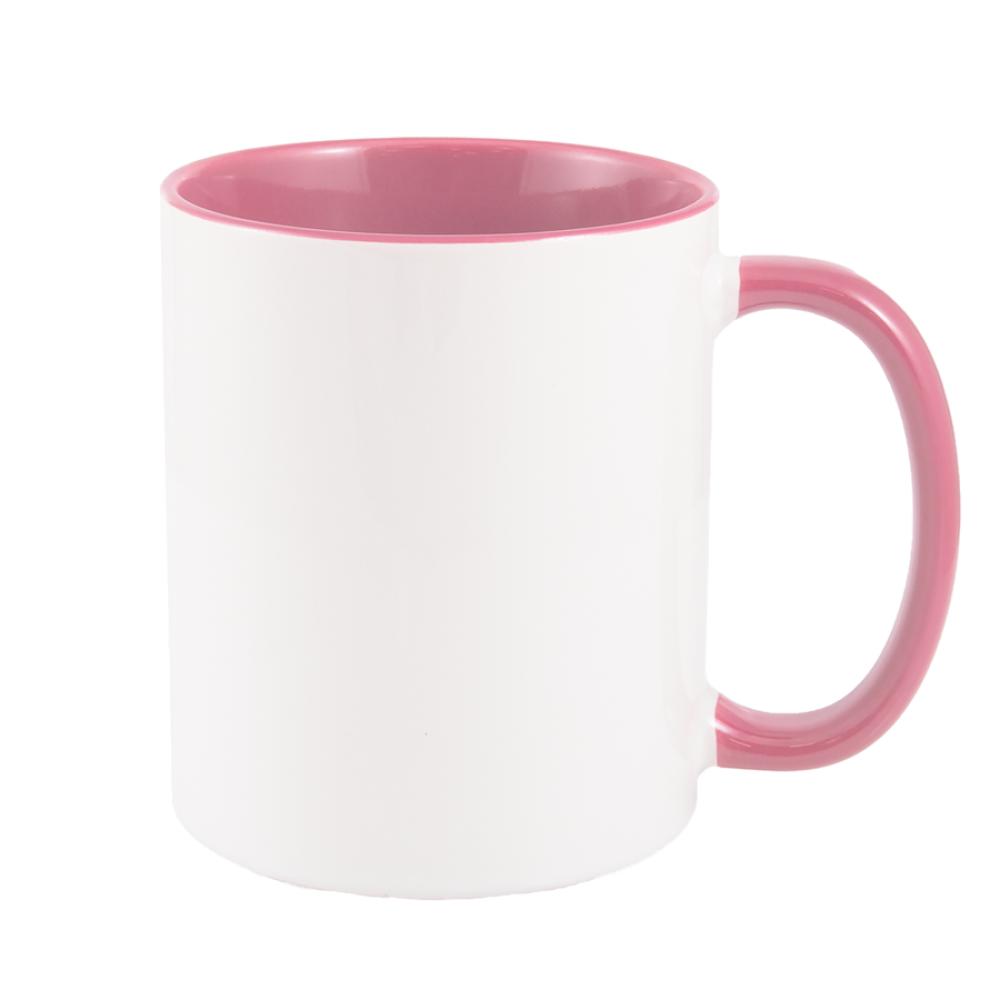 Kubek combo różowy z nadrukiem