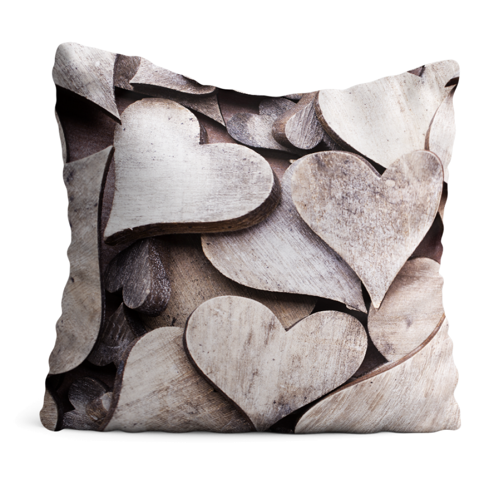Poduszka Drewniane serca