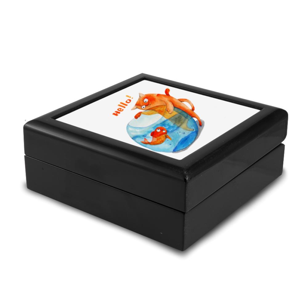 Pudełko drewniane czarne