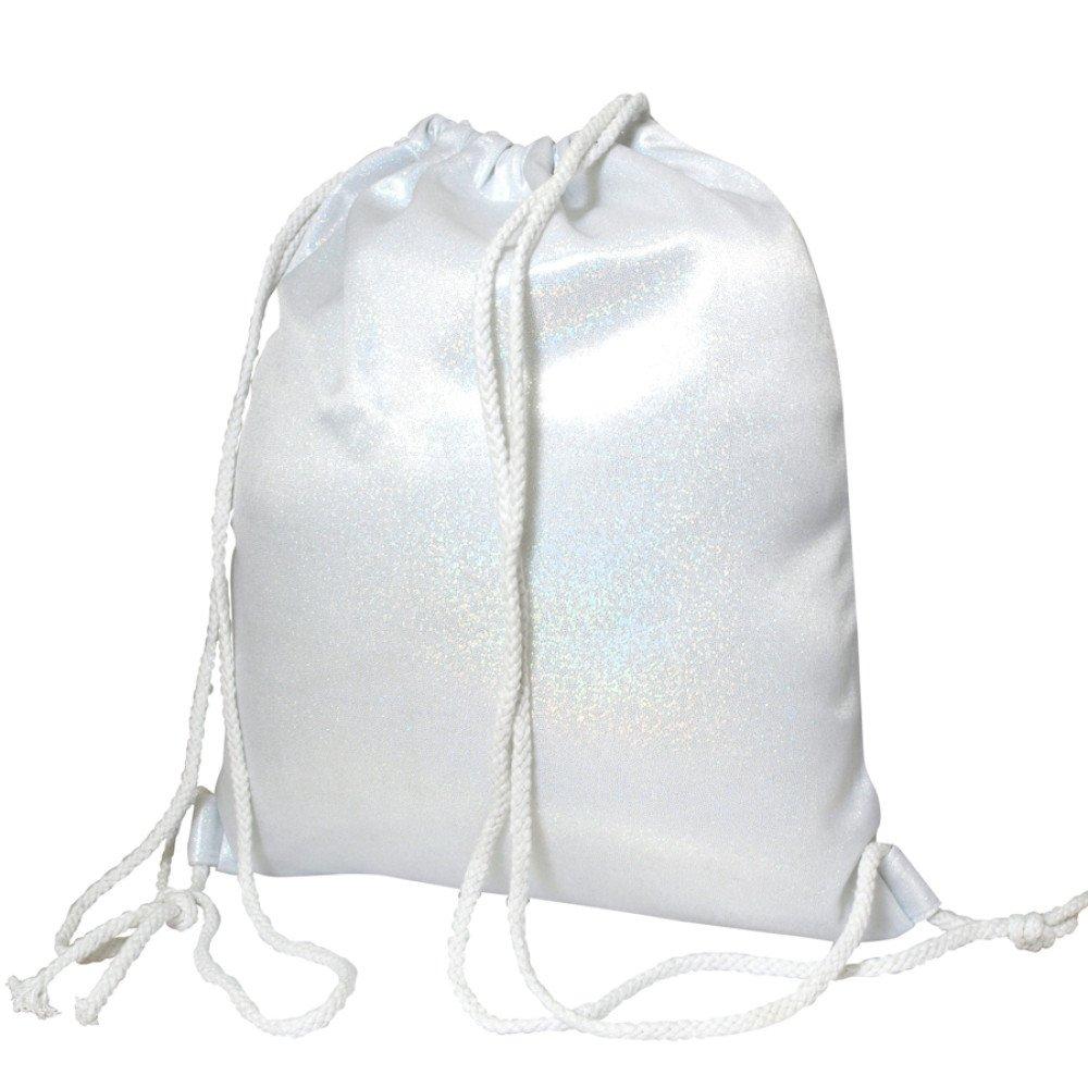 Plecak- worek brokatowy srebrny