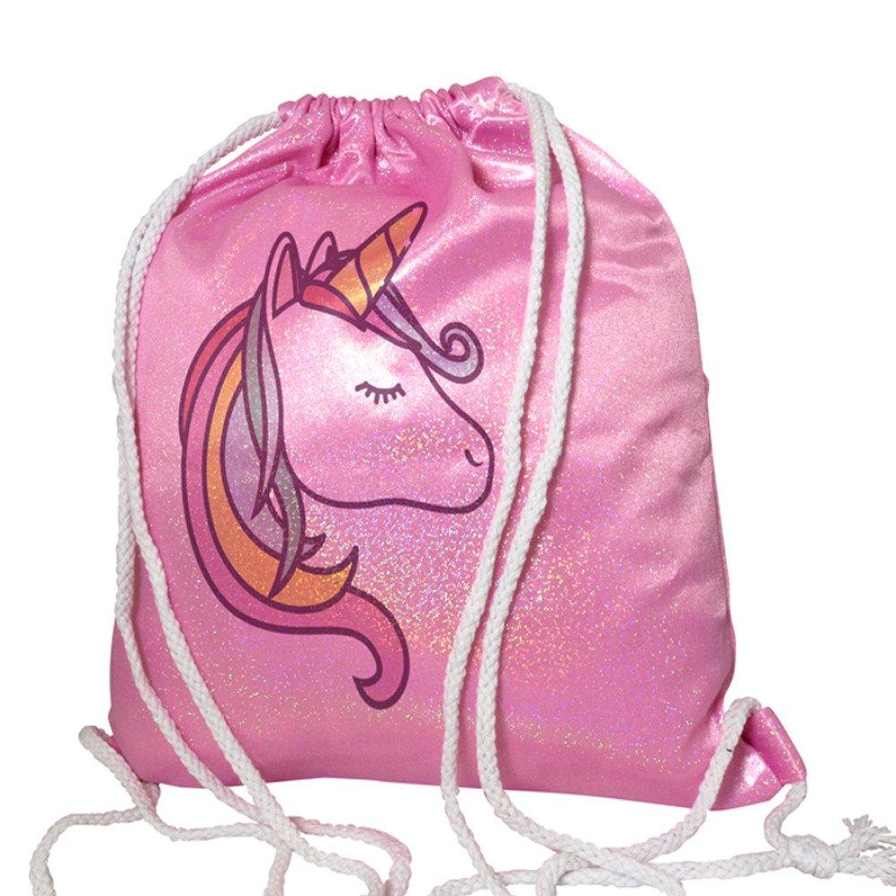Plecak- worek brokatowy różowy