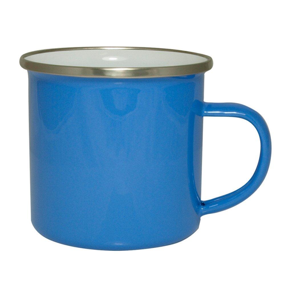 Kubek emaliowany niebieski