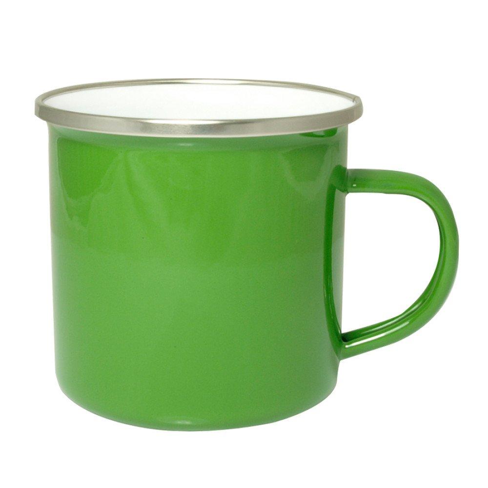 Kubek emaliowany zielony