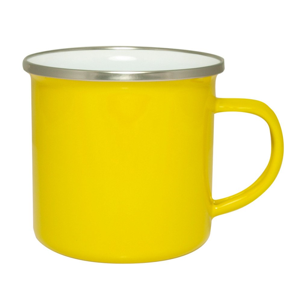 Kubek emaliowany żółty