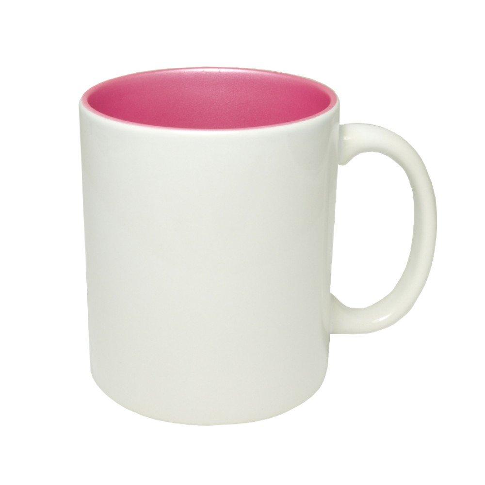 Kubek środek brokatowy różowy