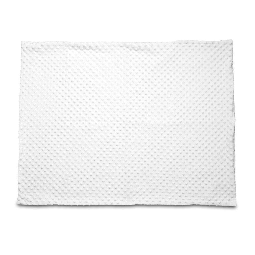 Kocyk Minky biały 50x75 z nadrukiem