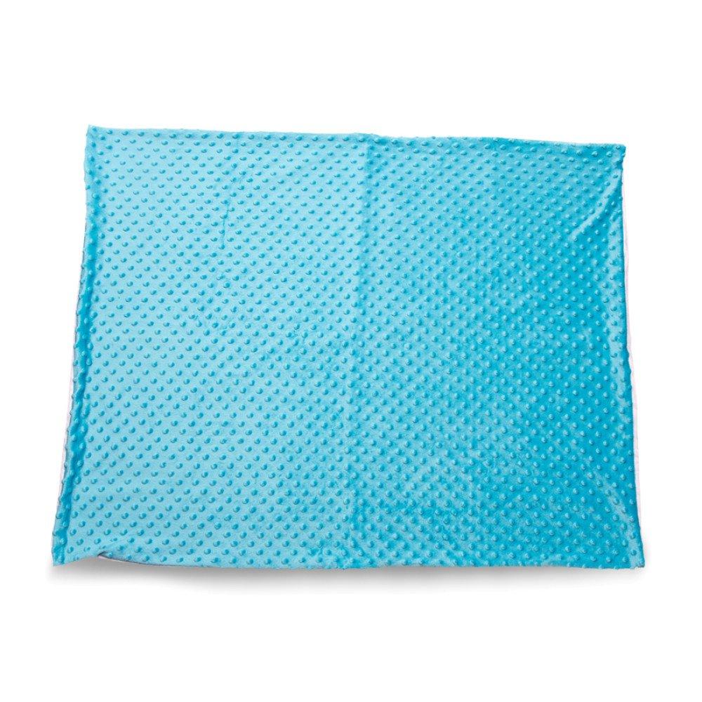 Kocyk Minky niebieski 50x75 z nadrukiem