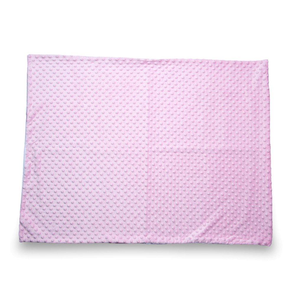 Kocyk Minky różowy 50x75 z nadrukiem