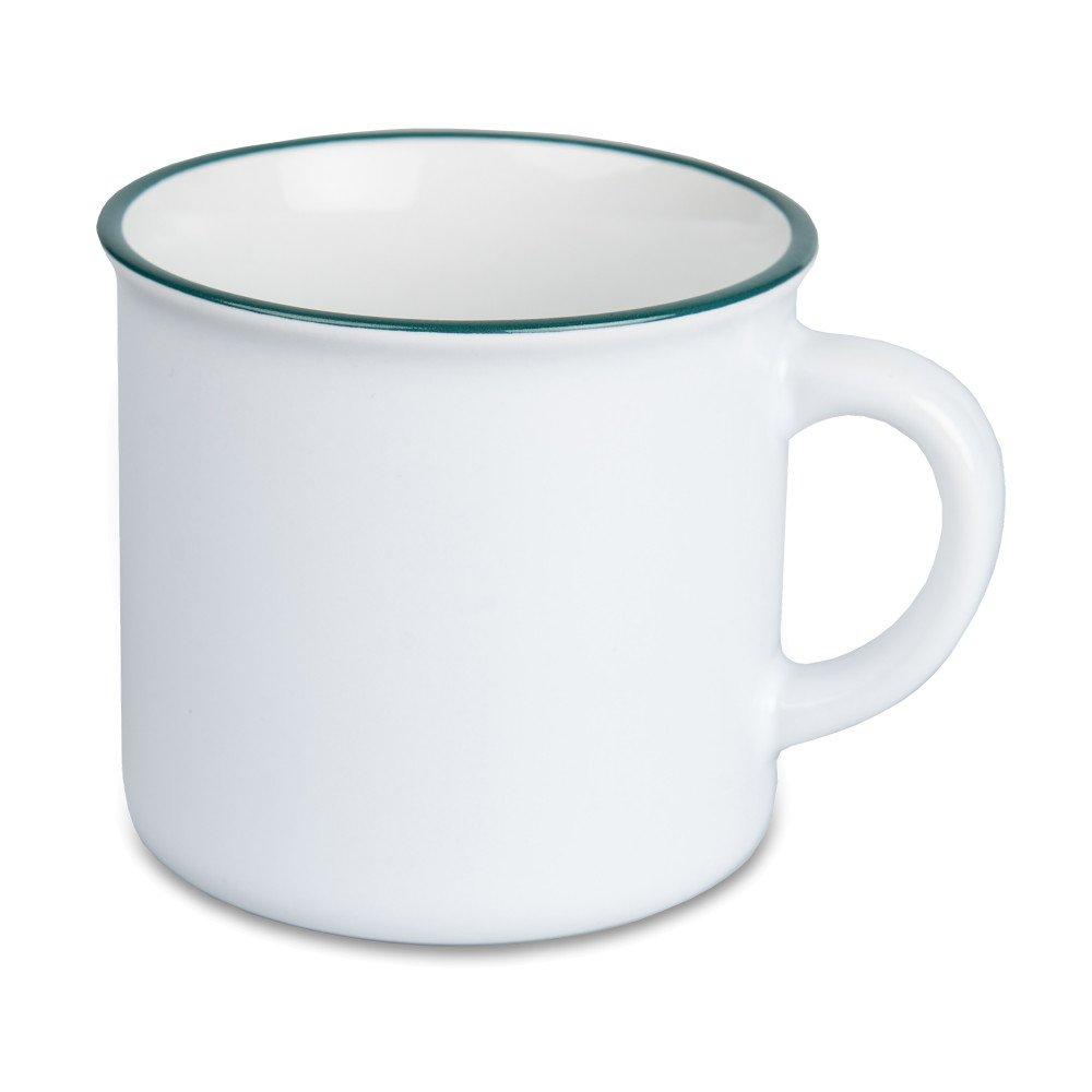 Kubek ceramiczny Camper 280 ml zielony rant