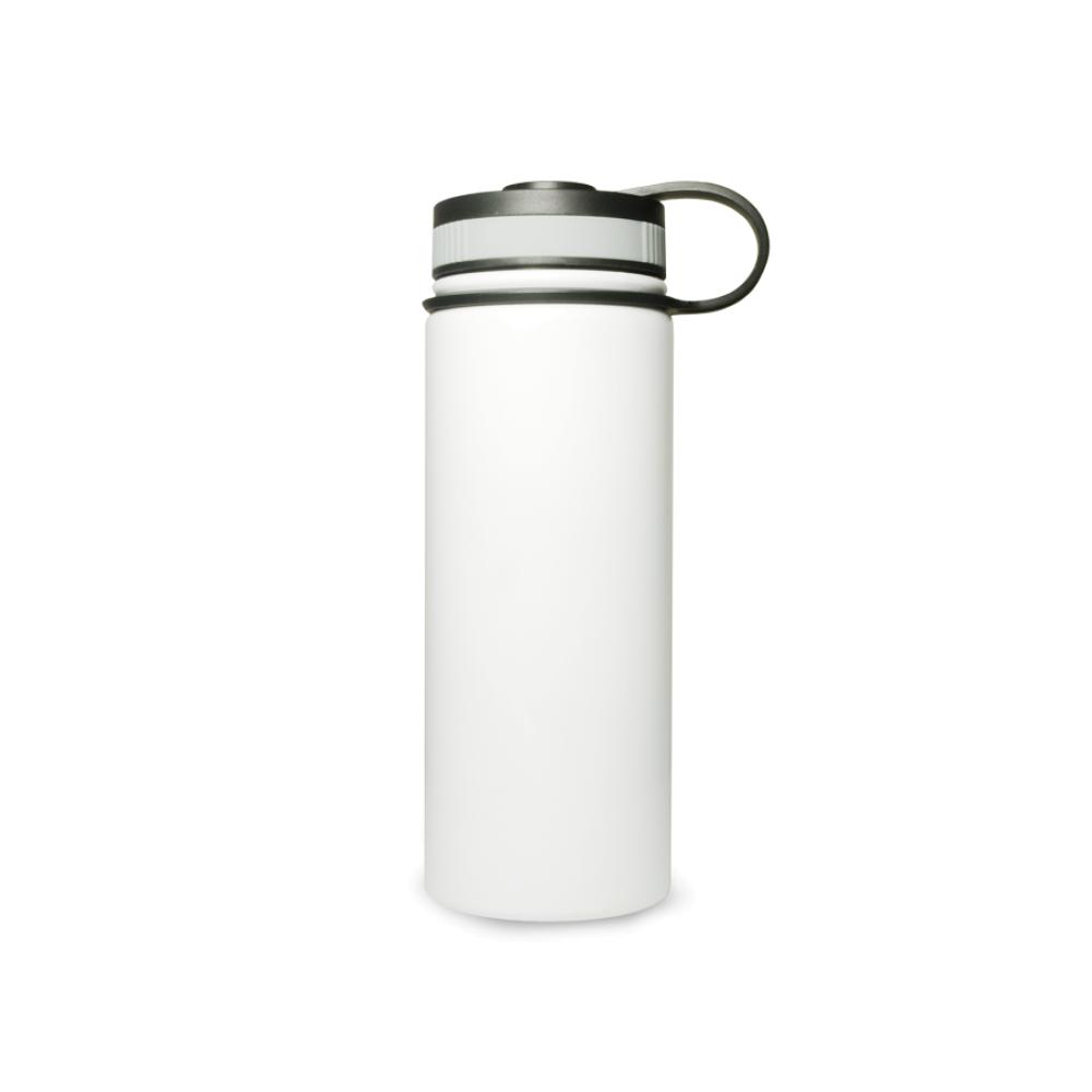 Stalowa termo butla 550 ml z szeroką zakrętką - biała