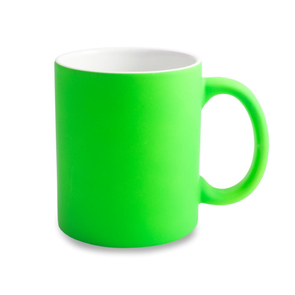 Kubek neonowy gumowany - zielony