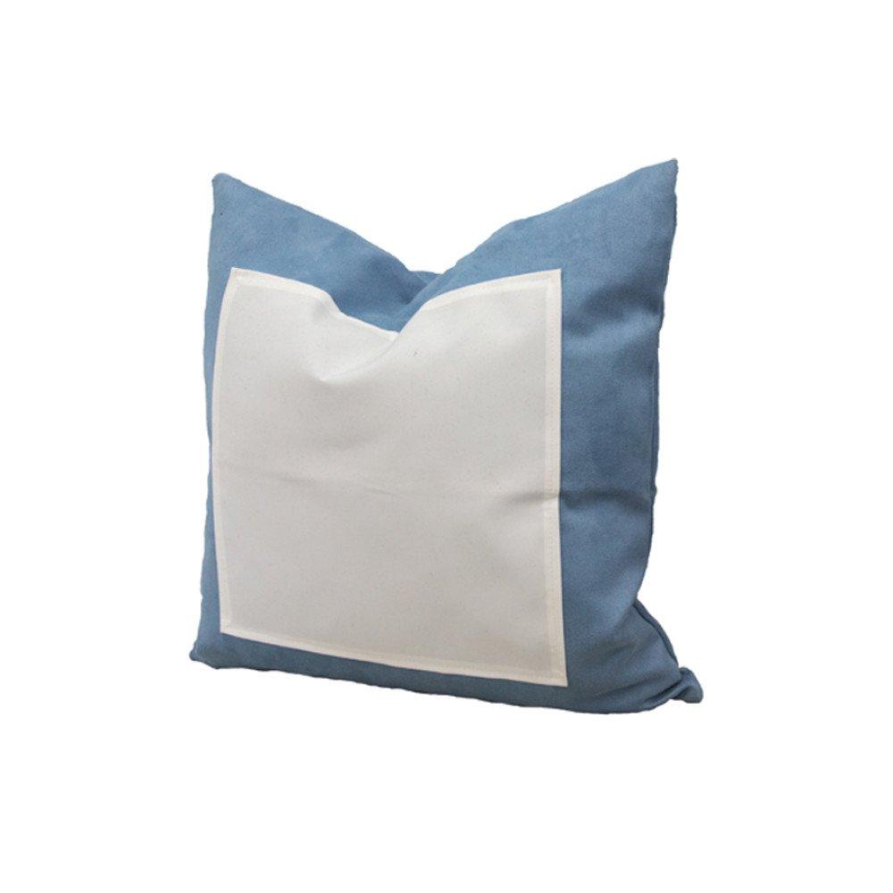 Poduszka ZAMSZ błękitna