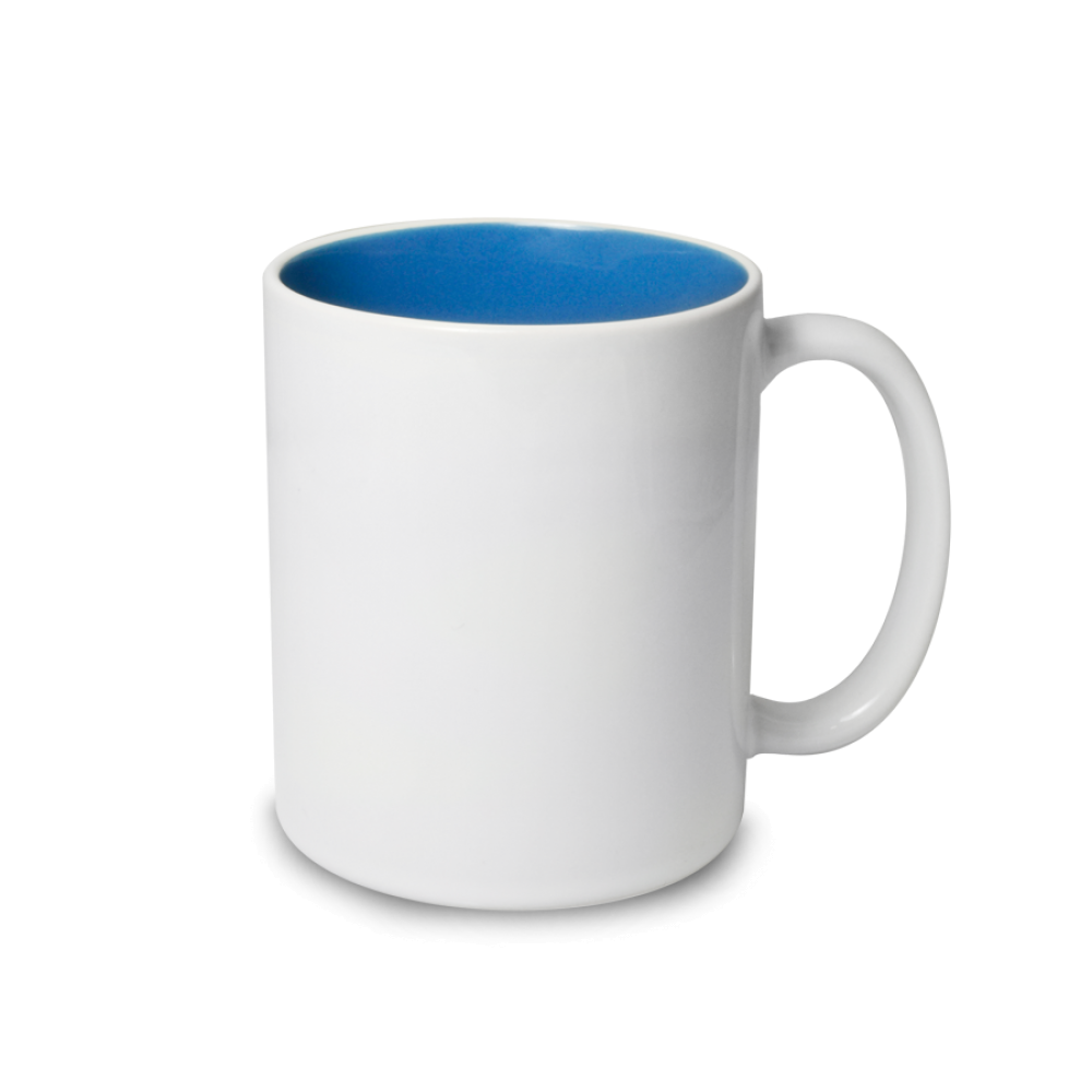 Kubek biały niebieski Cambridge środek - biała krawędź