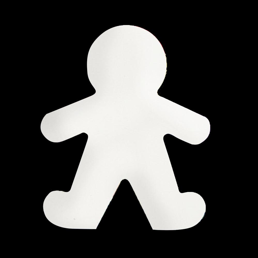 Ornament aluminiowy ozdobny Piernikowy Ludzik