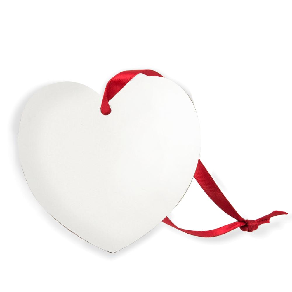 Ornament aluminiowy ozdobny Serce z nadrukiem