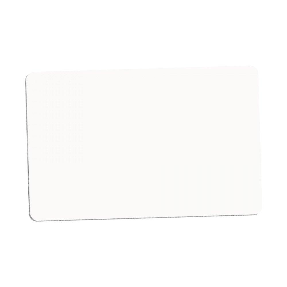 Plakietka imienna okrągły narożnik (aluminium) biała 5,39x8,57