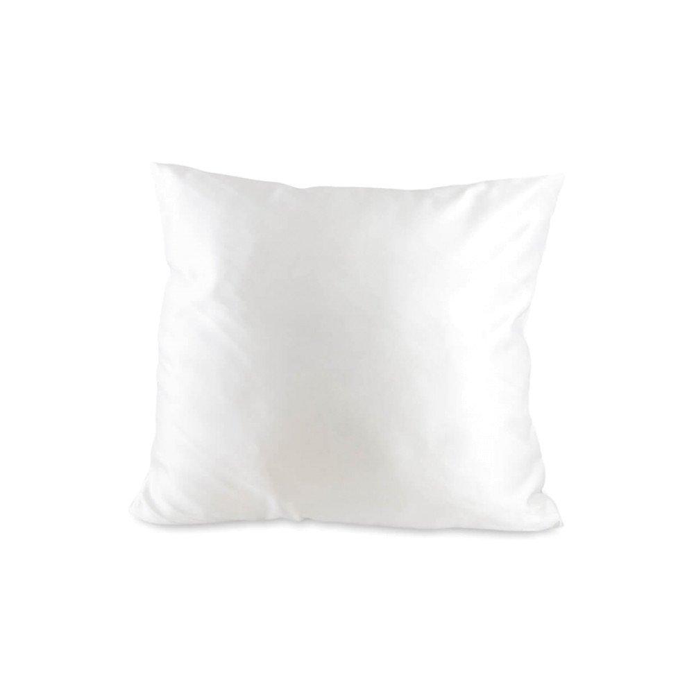 Poduszka biała cienka soft 40x40 + wkład (z nadrukiem)