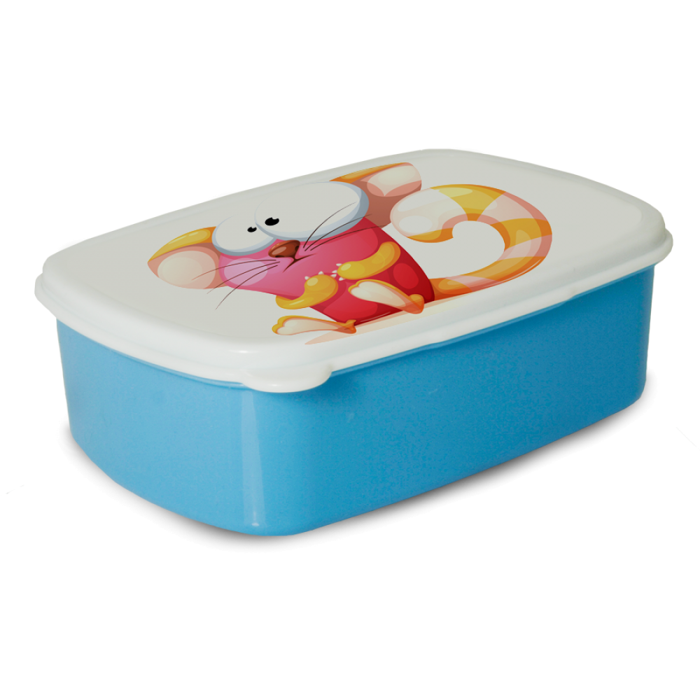Pudełko śniadaniowe - Niebieskie