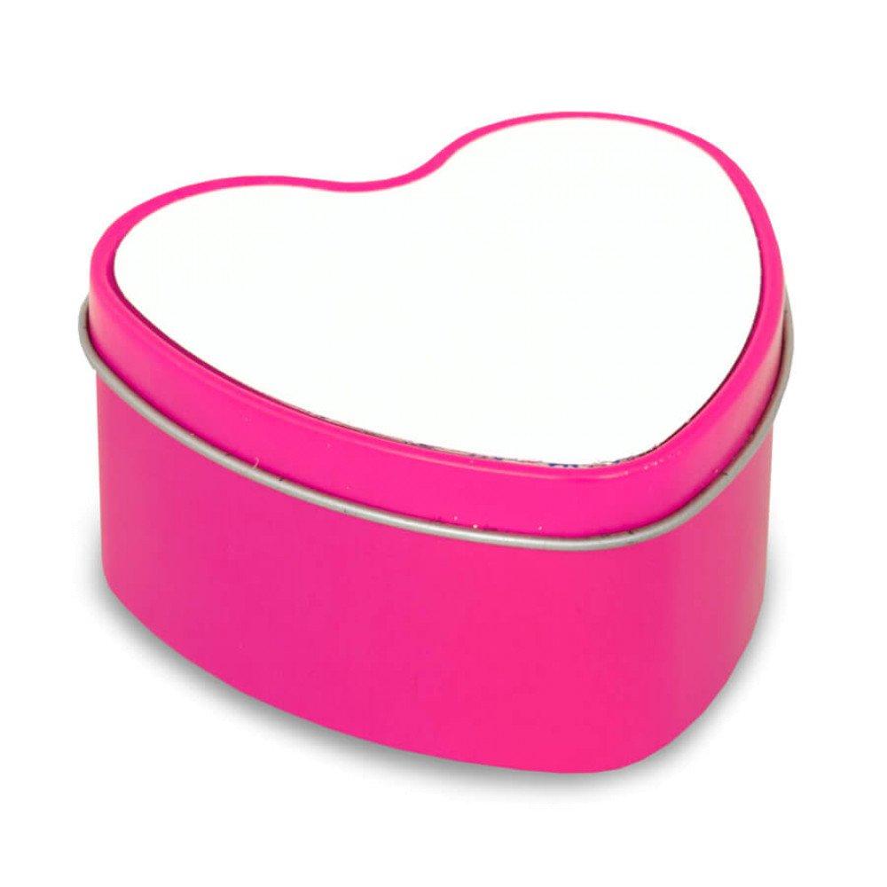 Świecznik metalowy- serce różowy