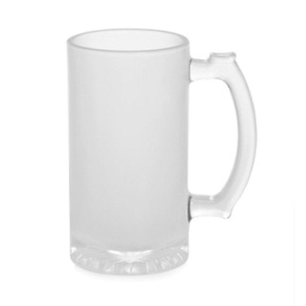 Kufel szklany szroniony z nadrukiem