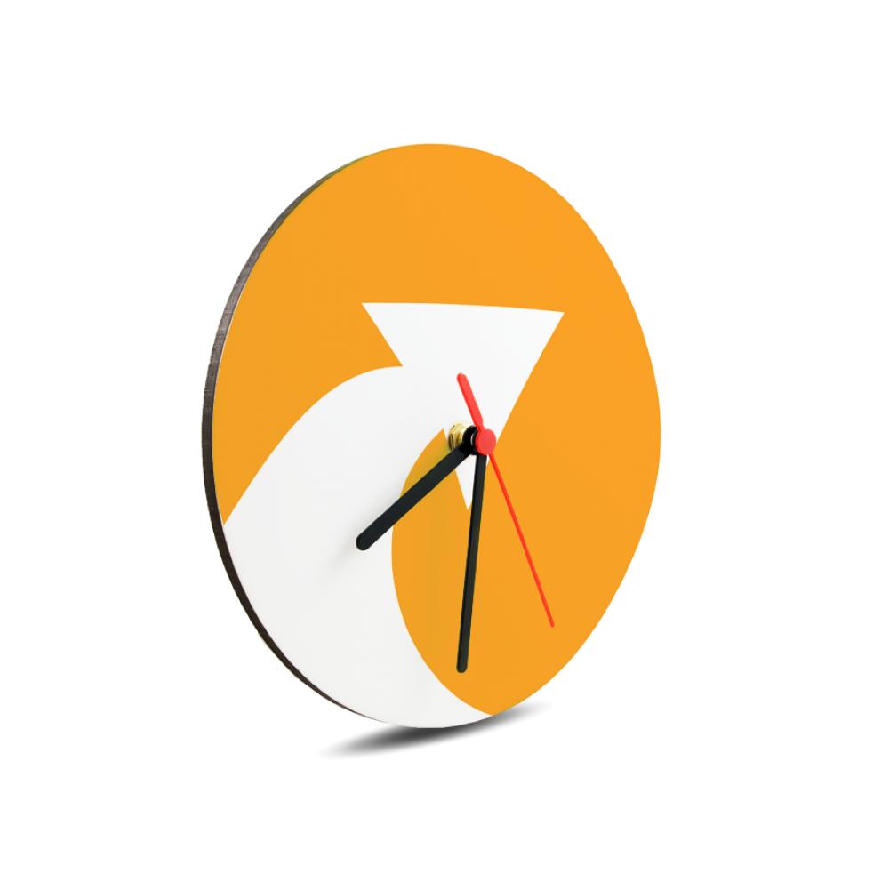 Zegar szklany - 31 cm błyszczący