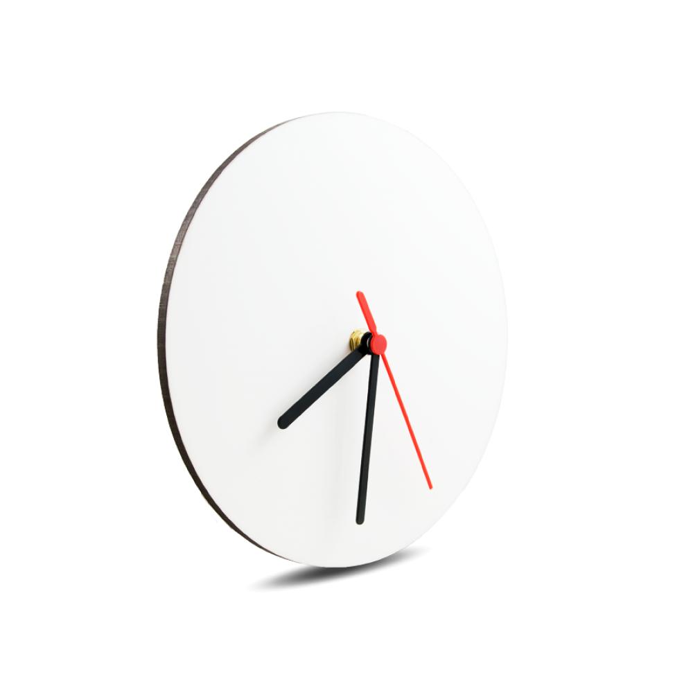 Zegar szklany 31cm matowy z nadrukiem