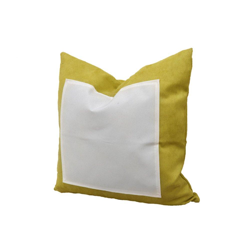 Poduszka ZAMSZ żółta